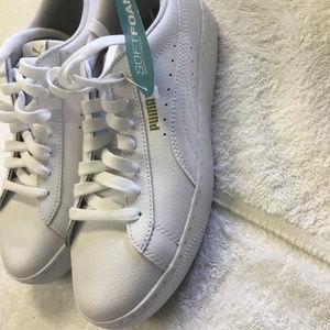 puma vikky platform leather sneaker women